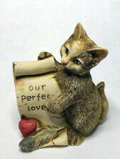 Harmony Kingdom artist Neil Eyre Designs Love Heart Feather cat kitten kitty Le