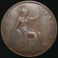 1918 KN | George V One Penny | Bronze | Coins | KM Coins