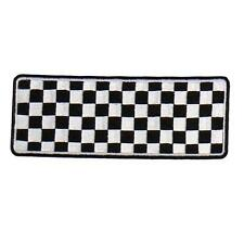 Checkered EMBROIDERED 4 INCH IRON ON MC BIKER  PATCH