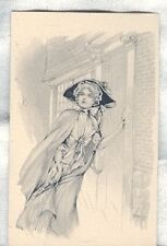 Old Postcard 1912 C. F. L. Fashionable Woman by Buildin