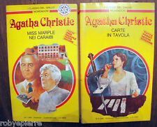 lotto 2 Agatha Christie MISS MARBLE NEI CARAIBI e CARTE IN TAVOLA 613 591 vendo