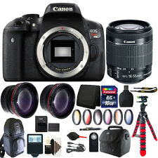Canon Eos Rebel T6i 24.2MP Wifi Camera with EF-S 18-55 Lens and Accessories