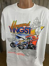 VINTAGE VTG 1998 Sprint Car White T Shirt XXL MAYWOOD YINGST  DOUBLE SIDED