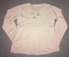 CYRILLUS Pull Top Maille Rose 14 Ans ⭐️ Argent Au Dos