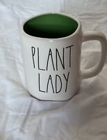 "New RAE DUNN Artisan Collection LL ""PLANT LADY"" Mug With Green Inside By Magenta"