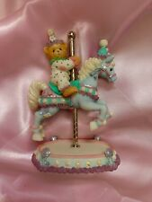 """More details for cherished teddies - #589977 """"archie"""" carousel figurine boxed new rare"""