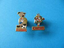 2, Vintage CANON Football Mascot Advertising Pin Badges.