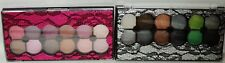 2 PROFUSION 24 Shades Of Eyeshadow In Pink & Black Lace Compact 4 Double End App