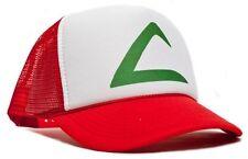 Retro POKEMON -ASH KETCHUM Curved Bill Printed Hat Cap HIGH QUALITY