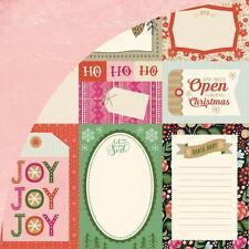 "Basic Grey Juniper Berry ""Journaling Cards"" 12x12 Paper! 2 pcs Christmas"