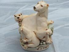 Harmony Kingdom Play Ball Polar Bears Figurine Made in England