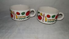 Vintage, 1970's, Houston Foods, Chicken Soup, Handled, Bowls - (2)