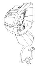VAUXHALL REAR VIEW MIRROR - GENUINE NEW - 13316037