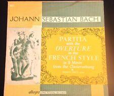 Rosalyn Turek- Bach Partita W/Overture French Style In B Minor Allegro Lp