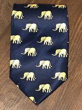 Giorgio Armani Liquid Gloss Silk Tie Elephant Novelty Republican Party