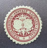 Siegelmarke Vignette VERSICHERUNGS-ANSTALT SACHSEN (8104-1)