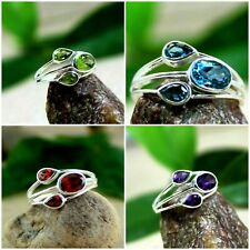 Wholesale Peridot Garnet Topaz Women's Rings Lot 925 Sterling Silver Amethyst