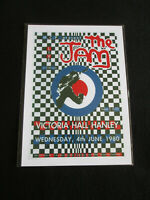 THE JAM  : VICTORIA HALL HANLEY 1980  : A4 GLOSSY REPO POSTER