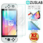 For Nintendo Switch Console OLED Model ZUSLAB Tempered Glass Screen Protector X2