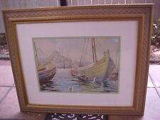 """Large Original Watercolor Painting of Istanbul, signed """"Vahit"""""""