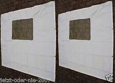 Seitenteile PE Abdeckplane MIT Fenster für Pavillon 6 Eck  2x 190 x 195 cm