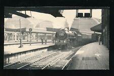 Railway LONDON Paddington Station engine loco 70026 Polar Star 1953 photograph