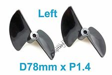 2pcs D78mm 2-Blades P1.6 RC Boat Propeller (678-2) 5mm Shaft 038-00603 US Seller