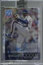 2019 Topps Clearly Authentic Dwight Gooden #Ybp-Dg Auto