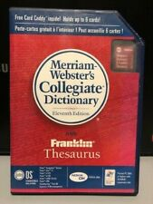 Palm Merriam-Websters Collegiate Dictionary and Franklin Thesaurus (P10935U)