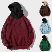 Herren Patchwork Sweatshirt Hoodie Loose Pullover Langarm Streetwear Hoodies L/P