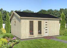 160 mm Gartenhaus Charlotte  548x448 cm Holzhaus Ausbauhaus Nordic Holz Haus