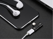 Adapter For Apple iPhone X 7 8 Plus Splitter Audio Earphone AUX Charger Dual US