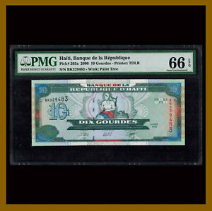 Haiti 10 Gourdes, 2000 P-265a PMG 66 EPQ Unc