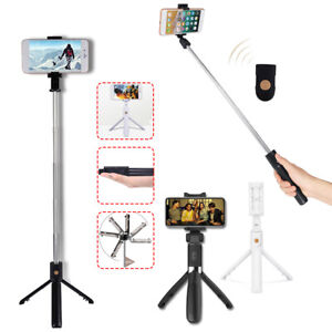 bluetooth Wireless Selfie Stick Extendable Tripod Shutter For iPhone XS Max XR X