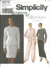 S 8519 sewing pattern Elegant JACKET Scallops SKIRT PANTS sew sizes 6-8-10 UNCUT