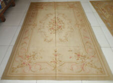 French Market Collection Pastel Light Tan Beautiful Aubusson Carpet XPA26