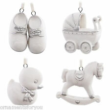 "Hallmark Welcome Baby Ornament Set of 4 ""Porcelain"""