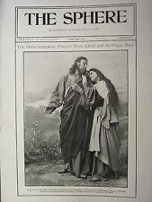 1900 VICTORIAN PRINT ~ PASSION PLAY AT OBER-AMMERGAU BAVARIA ANTON LANG