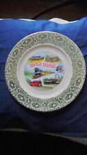 """Vintage 1970's Edaville Railroad Souvenir Plate - 10 1/2"""" Wide - Porcelain"""