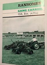 RANSOMES Gang Mower Carrier 1960s Original Vintage Sales Brochure - Rare