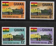 Ghana Scott #156-59, Singles 1963 Complete Set FVF MH