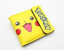 Pokemon Go Pikachu Wallet Women ID Card Holder Short Purse Leather pu Wallet