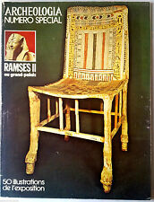 Archeologia n°95 du 6/1976; Numéro Spécial Ramses II au Grand Palais