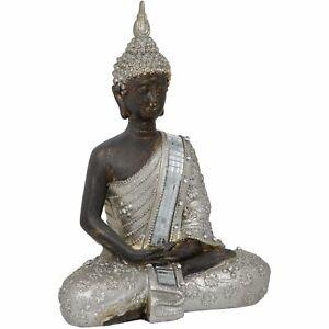 BUDDHA THAI SITTING EARTH MEDITATING DECORATIVE ORNAMENT