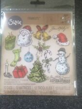 Sizzix Framelits Dies jirones de Navidad 12 Tim Holtz Estuche 662437 Nuevo