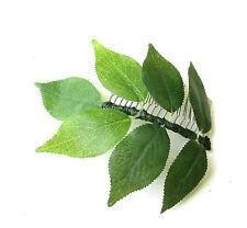 Green Ash Leaf Hair Comb Silver Bridal Bridesmaid Artificial Rustic Wedding 2074