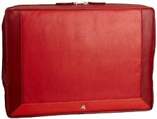 Visconti RB69 Red Leather Laptop Padded Holder Computer 13 inch Mac Sleeve Case