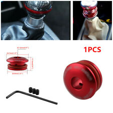1x Car Shift Head Limiter Fixed Base Gear Cover Buckle Adapter Shifter Lever Red