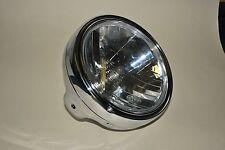 "7"" Chrome Round Motorcycle Headlight E-Marked Fits Suzuki GSF600 GSF1200 Bandit"