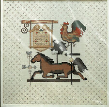 """""""Weathervanes"""" Counted Cross Stitch Kit 5521 1985 12x12"""" Pillow or 16x16"""" Framed"""